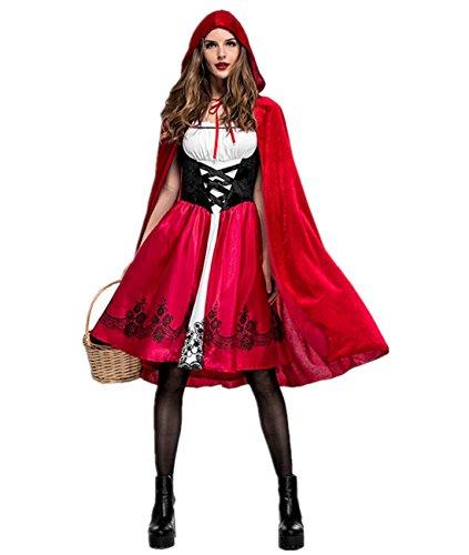 Imagen de disfraz de criada para mujer traje medieval cosplay caperucita halloween talla m alternativa