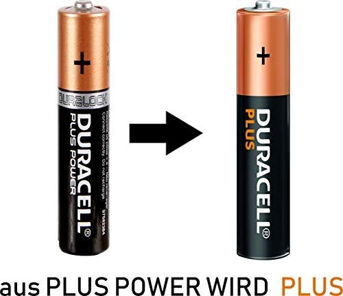 Vorteilspack 24x DURACELL PLUS  Batterie AAA / Micro Batterien in WEISS - more  + Blisterbox