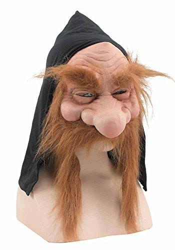 Maske Wikinger (Zwerg Maske Wikinger hautfarben Zwergenmaske Horrormaske Gnom Maske Gnommaske Karneval)
