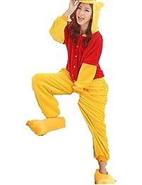 Unisex nightwear and pyjamas Unisex Einteiler/Pyjama für Erwachsene,Winnie Pooh-Design, aus warmem Flanellstoff