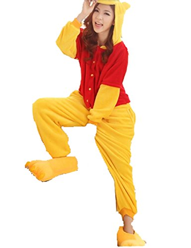 Winnie The Pooh Kostüm Für Erwachsene - Unisex nightwear and pyjamas Unisex Einteiler/Pyjama