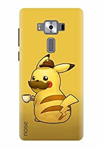 Noise Designer Printed Case / Cover for Asus Zenfone 3 Deluxe ZS570KL with 5.7 Inch screen size/ Animated Cartoons / Pika In Moustache Design