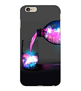 ColourCraft Glass and Bottle Design Back Case Cover for APPLE IPHONE 6 PLUS