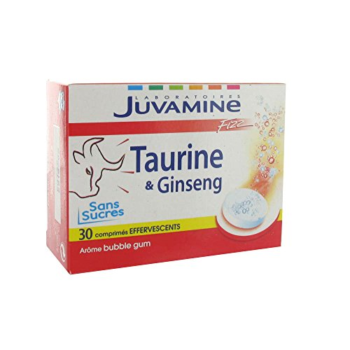 JUVAMINE - JUV067036 - Stimulant Energisant Taurine Ginseng Fizz - 30 comprimés effervescents