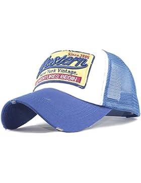 Gorras beisbol,Zarupeng Gorra para hombre mujer talla única Casquillo bordado de verano Sombreros de malla para...