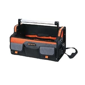 Tactix 323163Open Sac à outil, 45,7cm, Noir/orange