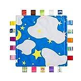 Inchant personnalisés Lovely Baby Taggies Blanket Consolateur Nouveau-né avec Sewn soie Tags - Starry Sky