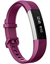 Armband Fur Fitbit Alta HR und Fitbit Alta,SnowCinda Verstellbares Karo Koper Ersatzarmband Wristband Silikonarmband Fitness Zubehorteil mit Metallschliese
