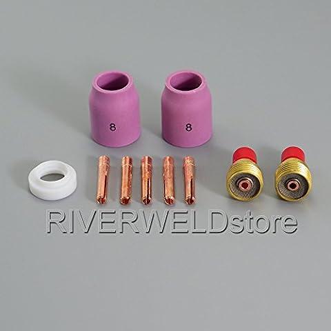 10pcs TIG Gas objetivo Kit Collet accesorio cuerpo TIG antorcha de soldadura WP9SR20WP25