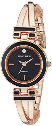 Anne Klein Women's Quartz Metal and Alloy Dress Watch, Color Rose Gold-Toned (Model: AK/2622BKRG)
