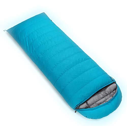 LHJJJQAQ Ultraleichte wasserdichter Outdoor-Camping-Schlafsack warmen Schlafsack für Erwachsene Schlafsack Mittagspause Umschlag Schlafsäcke zu halten,Blue,A(400g)