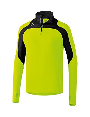 Erima Kinder Race Line Running Longsleeve, Neon Gelb/Schwarz, 152