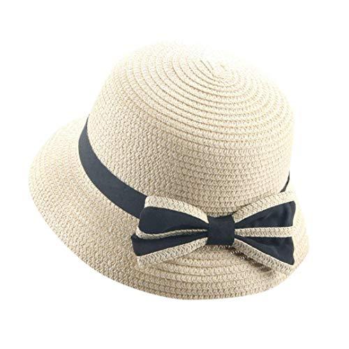 Ogquaton Unisex Sommer Baby Hut Kappe Kinder atmungsaktiv Hut Strohhut Sonnencreme Schmetterling Knoten Topper stilvoll und praktisch