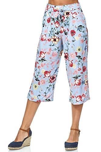 JDY Damen Culotte Hose 3/4 Capri Shorts Loose Trousers, Farben:Hellblau, Größe Damen:38 / M (Shorts Damen Culotte)