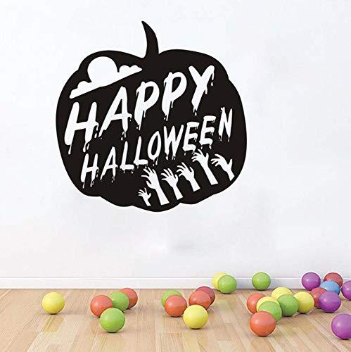 Wandtattoo Fröhliche Halloween Kürbis Party 59X59Cm Wandtatoo Wandsticker Wandaufkleber Wanddekoration Für Entfernbare Wohnzimmer Schlafzimmer Flur