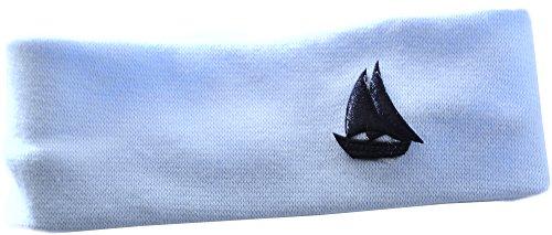 Baby Kinder Haarband Stirnband Hairband Blau mit Schiff festlich sommerlich La Bortini (KU 40-50cm.)