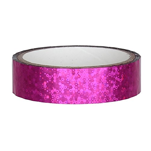 Glitter Deko Klebeband 25mm x 30m für Hula Hoop, PINK - Hula-hoop Glitter