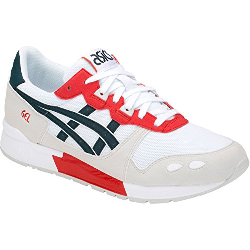 Asics Gel-Lyte, Chaussures de Running Homme, Multicolore (White/Dark Ocean 100), 42 EU