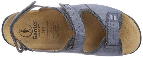Ganter GLADY, Weite G Damen Offene Sandalen Blau (jeans/asphalt 3461)