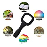 Kurtzy Magnifying Pocket Lens 6 Times High-Powered Multi-Function Magnifier Reading Glass with 5 LED and 1 UV Lights