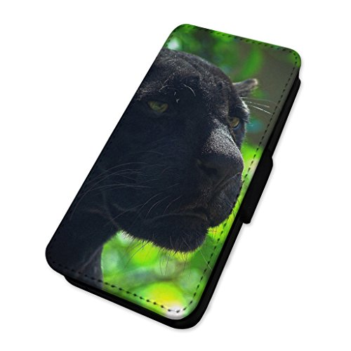 Black Panther – Jaguar Big Cat – Custodia ad aletta in pelle cover Apple iPhone 6/6S