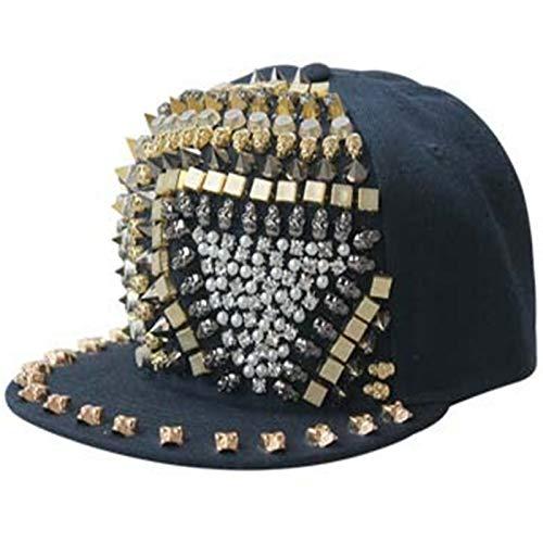 SELYPunk-Stil Niet Hut Männer und Frauen Straße Hipster Hip Hop flachen Hut Outdoor Baseballmütze