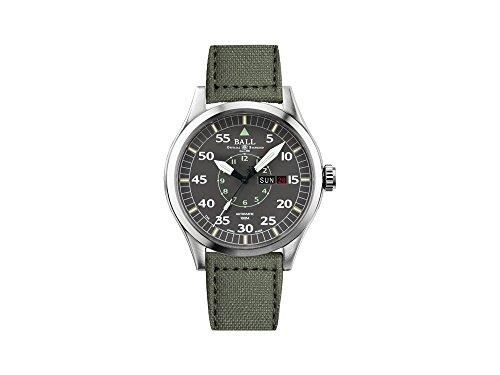 Ball Engineer Master II Aviator Uhr, Ball RR1102, 46mm, Grau, NM1080C-L5J-GY