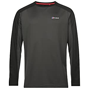 berghaus Herren Tech 2.0 Neck Long Sleeve Crew T-Shirt