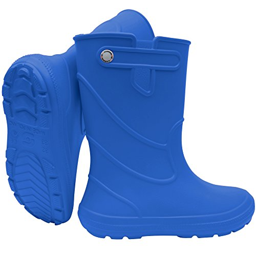 Sapro System Kids Boys Girls Wellies Rain Boots Light Junior Children Wellington Boots PVC-Free EVA