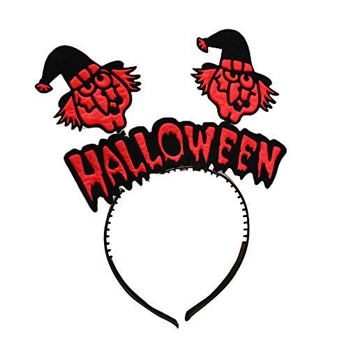 Newin Star 1 Stück Halloween Stirnband Kürbis Hexe -