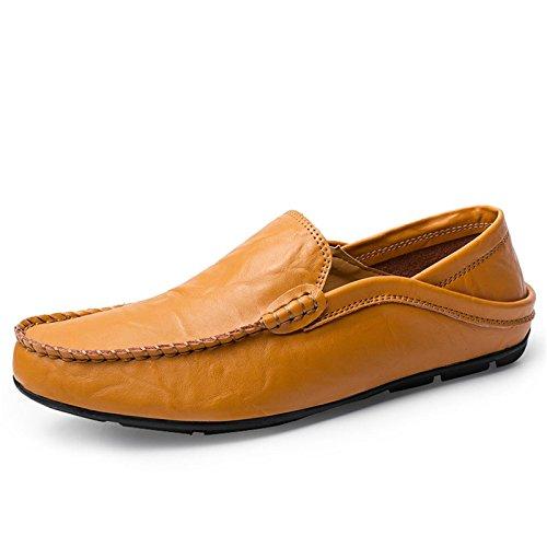 LSGEGO Herren Mokkasins Slip on Casual Männer Loafers Herren Frühling und Herbst Herren Mokassins Schuhe Aus Echtem Leder Herren Wohnungen Schuhe Herren Fahr Schuhe (Schuhe Wohnungen Männer)