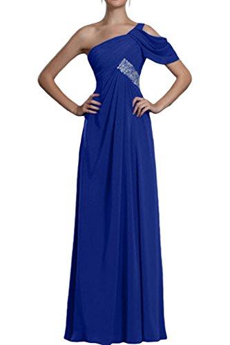 ivyd ressing Modern da donna pizzo a forma di cuore Hi-Lo Chiffon Rueckenfrei Party Festa Prom abito abito sera vestito blu royal
