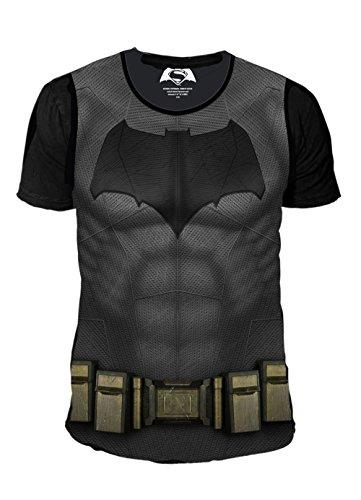 DC Comics-Batman vs Superman T-Shirt da uomo-Suit (grigio) (S-XL) Grau L