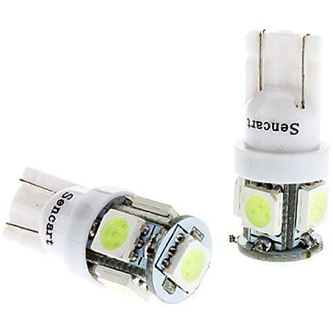 FULLModerna lampadina auto di T10 1W 5x5050SMD Ice Strumento LED blu / Targa / segnale (Girata Del Lato Del Segnale Indicatore Luminoso)