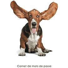 Carnet de mots de passe: Journal d'adresses de sites web et de mots de passe - Couverture avec un chien Basset