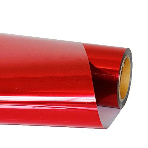 HOHOFILM Hitzeverteiler, Vinylfolien, Metallic-Rot, zum Aufbügeln, für T-Shirts, Handarbeiten, Kleidungsstücke, 50 x 30 cm