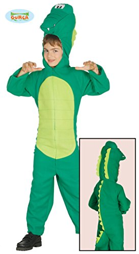 Krokodil Kostüm Kinder - Guirca Krokodil - Kostüm für Kinder Krokodilkostüm Aligator, Größe:134/140
