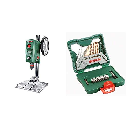 Bosch PBD 40 - Taladro de columna, caja de cartón, 710 W + Set de accesorios X-line, 30 unidades