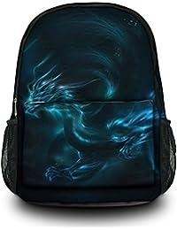 "Luxburg® Design sac à dos multifonction cartable collège backpack, motif: Dragon ""fantasy"""
