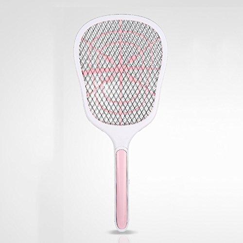 Elektrische fliegenklatsche mückenklatsche Bug zapper Schl?ger,Moskito killer Usb aufladbare lithium-batterie-Rosa 20x54cm(8x21inch) (Handheld Zapper Bug)