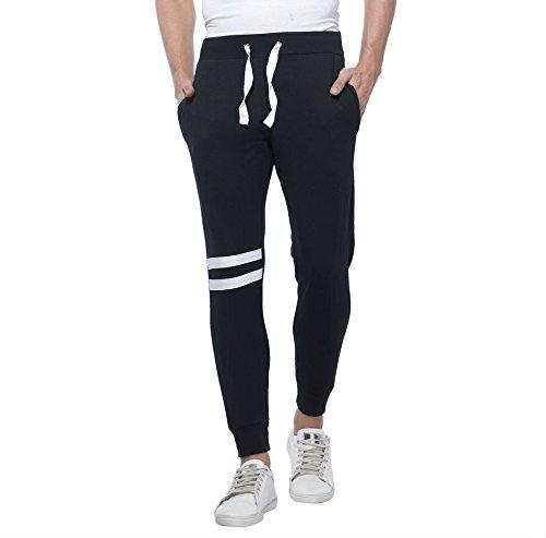 Alan Jones Clothing Men's Joggers (Jog-Trim-L, Black, Large)