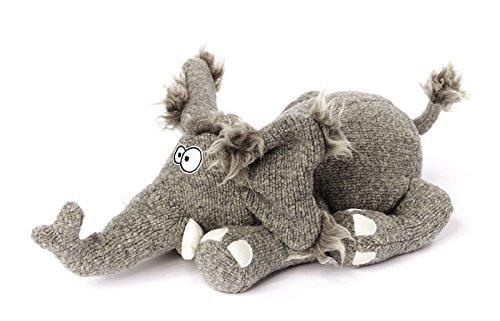 sigikid Beasts Kuscheltier für Erwachsene und Kinder, Elefant, Francois Firlefant, Grau, 37907