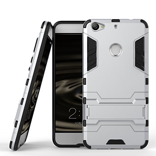Qiaogle Telefon Case - Shockproof TPU + PC Hybrid Ständer Schutzhülle Case für Letv 1S/ LeTV X500/ LeTV LE1S/ Le 1S Helio X10 Turbo (5.5 Zoll) - HK05 / Argent