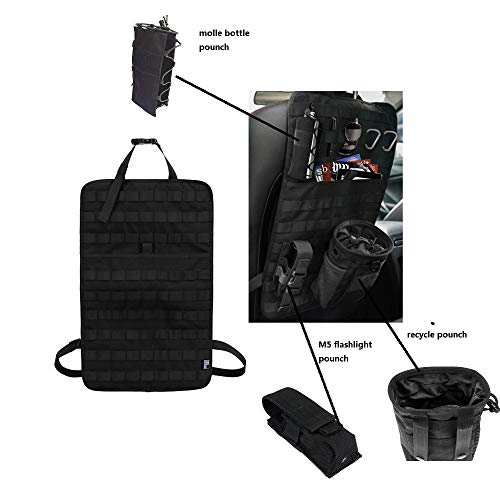 Tactical Expedition Auto Fahrzeug Sitz zurück MOLLE Organizer mit Flasche/Taschenlampe/Recycle Pouch - Airsoft Paintball temporäre bewaffnete Depot Universal Seat Storage Cover