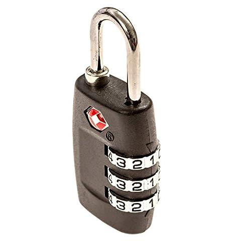 Voyage verrous TSA Approuvé–Idéal pour Voyage et bagages de sécurité, Pack of 3 Locks