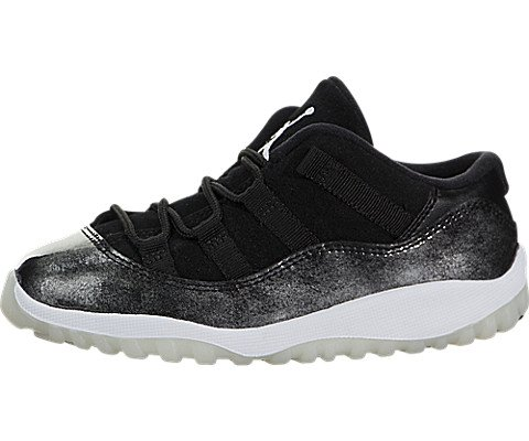Jordan Nike Kids Air 11 Retro Low BT Black/White/Metallic Silver 505836-010 (Size: 10C) (Retro Jordan 11 Schuhe Für Männer)