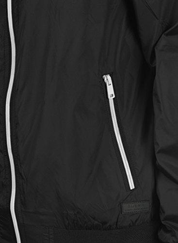BLEND Brad Herren Übergangsjacke Blouson mit Stehkragen aus hochwertigem Material Black (70155)