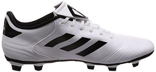 adidas Copa 18.4 FxG, Chaussures de Football Homme Blanc (Footwear White/core Black/tactile Gold Metallic)