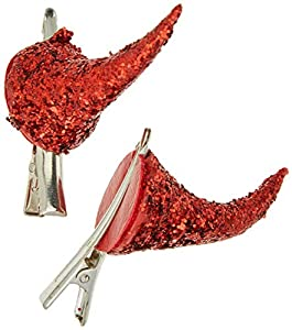 Rubies- Cuernos de diablo con purpurina y clip, Talla única (Rubie