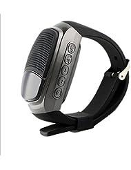 MaMaison007 B90 Reloj Hifi Bluetooth 3.0 reloj pulsera de múltiples funciones al aire libre música Mini altavoces Smart - gris